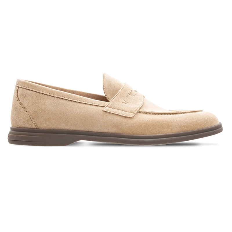 Moreschi 043809 Suede Leather Loafer Beige Image