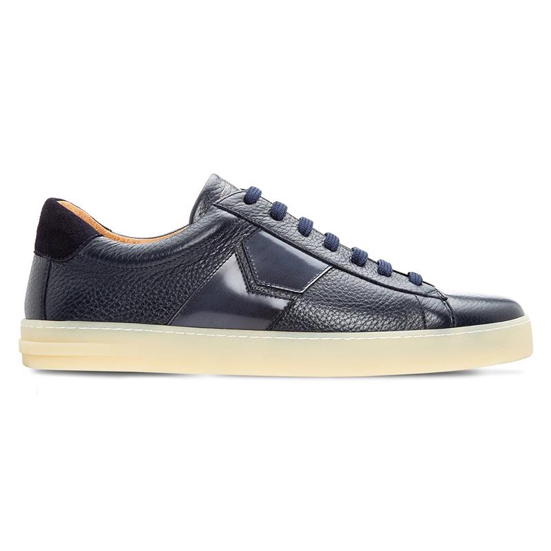 Moreschi 043849 Deerskin And Calfskin Sneakers Dark Blue Image