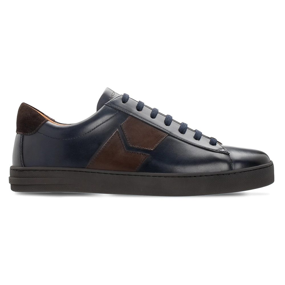Moreschi 043963A Calfskin Sneakers Dark Blue / Dark Brown Image