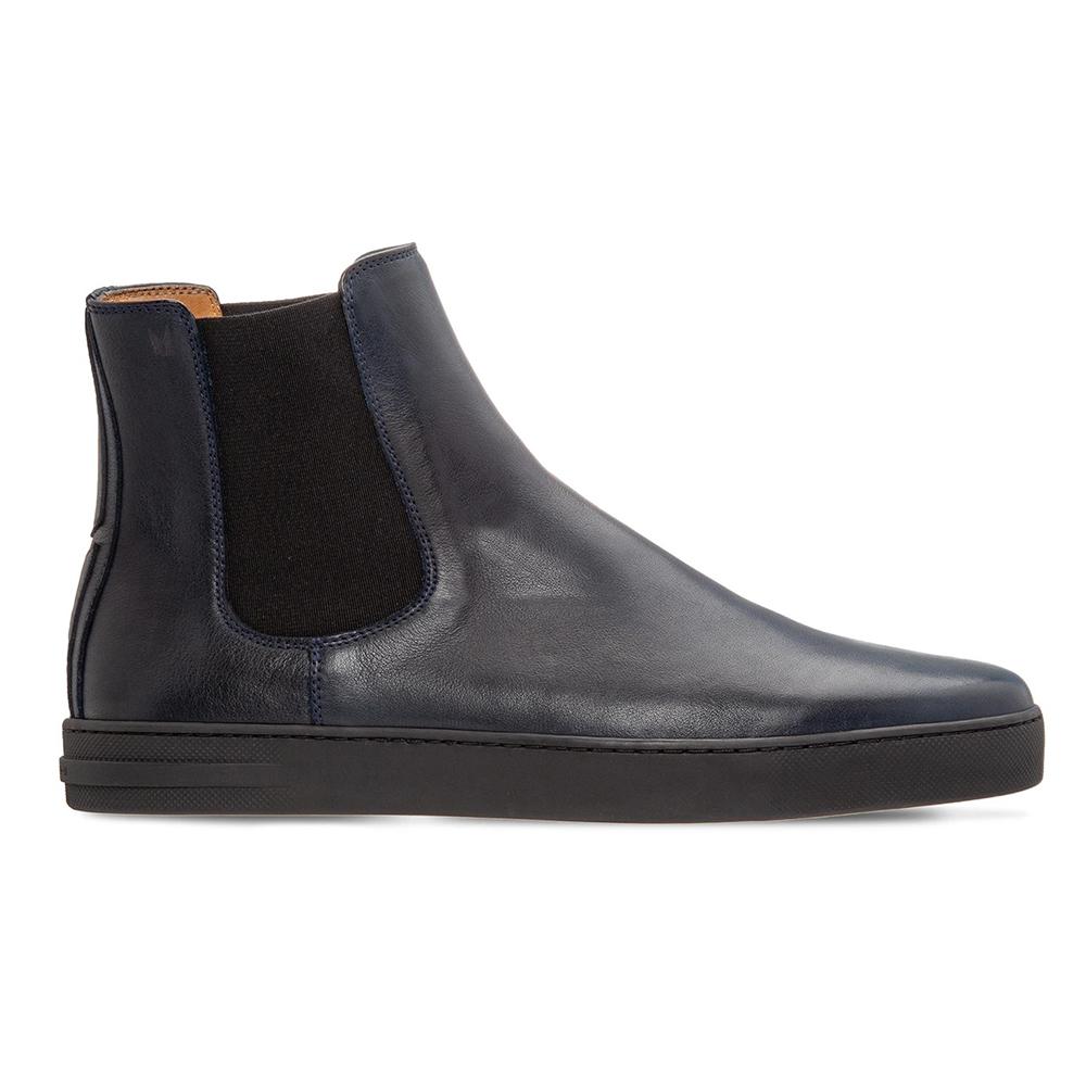 Moreschi 043967A Calfskin Boots Navy Blue Image