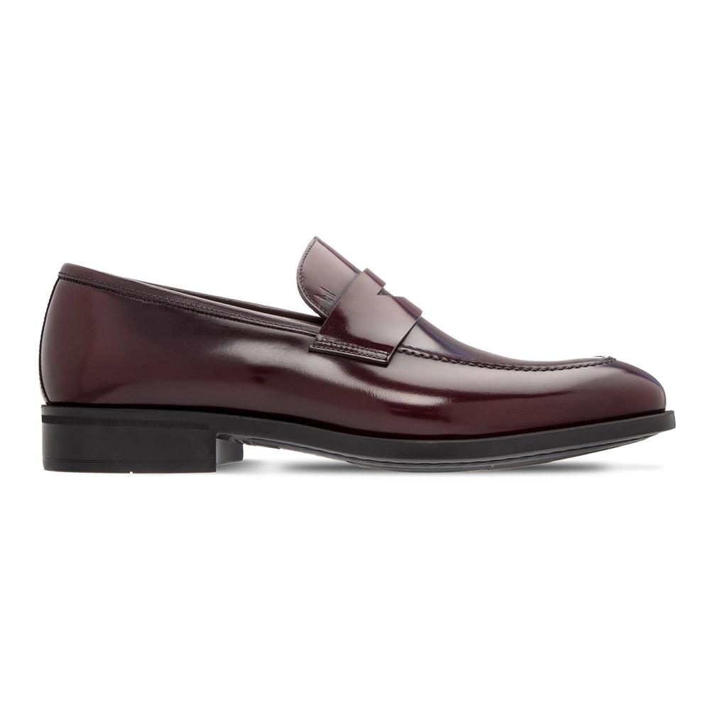 Moreschi 043969B Calfskin Slip-on Loafers Bordeaux Image