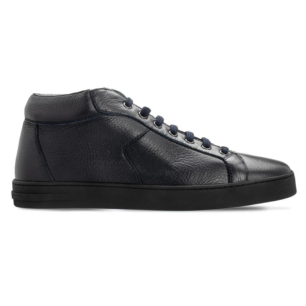 Moreschi 044041A Deerskin Sneakers Navy Blue Image