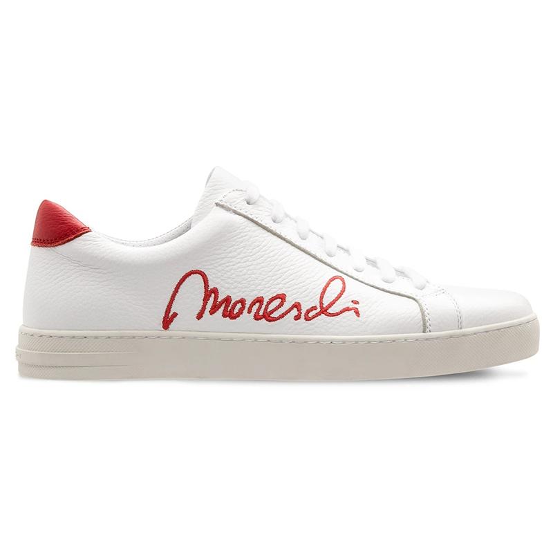 Moreschi 2000001113622 Deerskin Signature Sneakers White Red Image