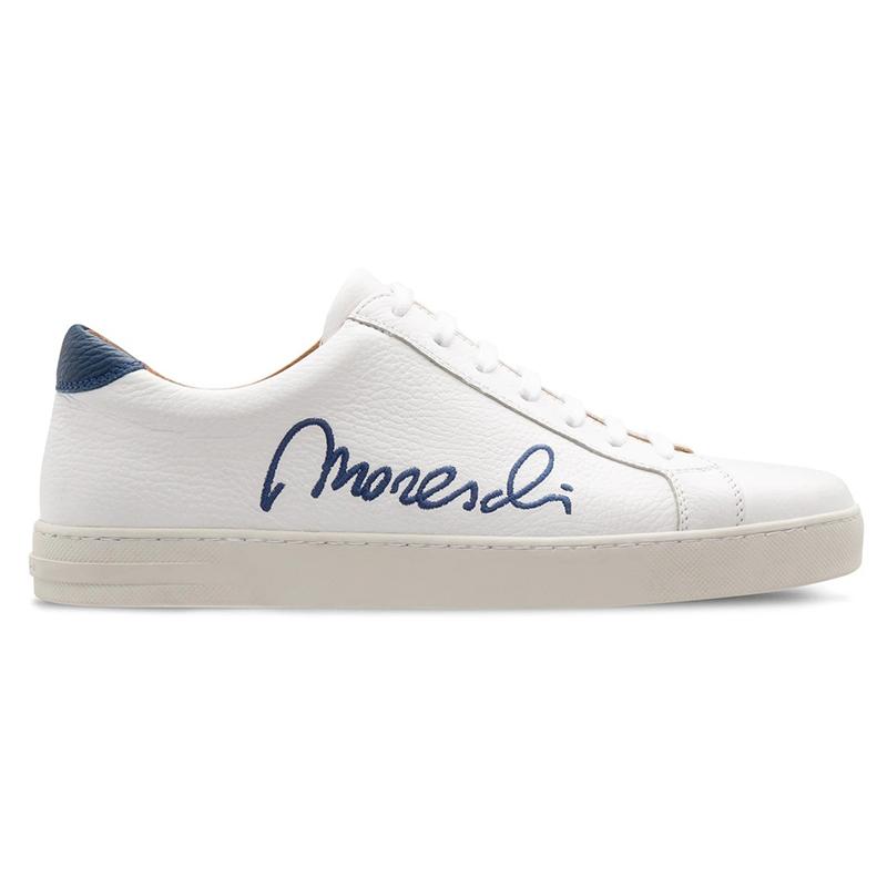 Moreschi 2000001113776 Deerskin Signature Sneakers White Blue Image