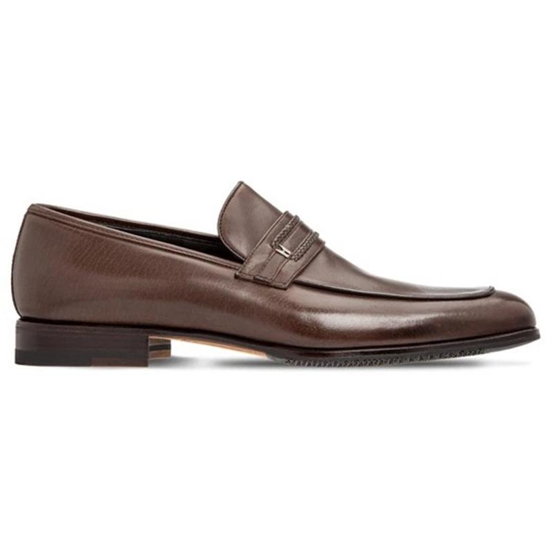 Moreschi 2000001246405 Buffalo Loafer Shoes Dark Brown Image