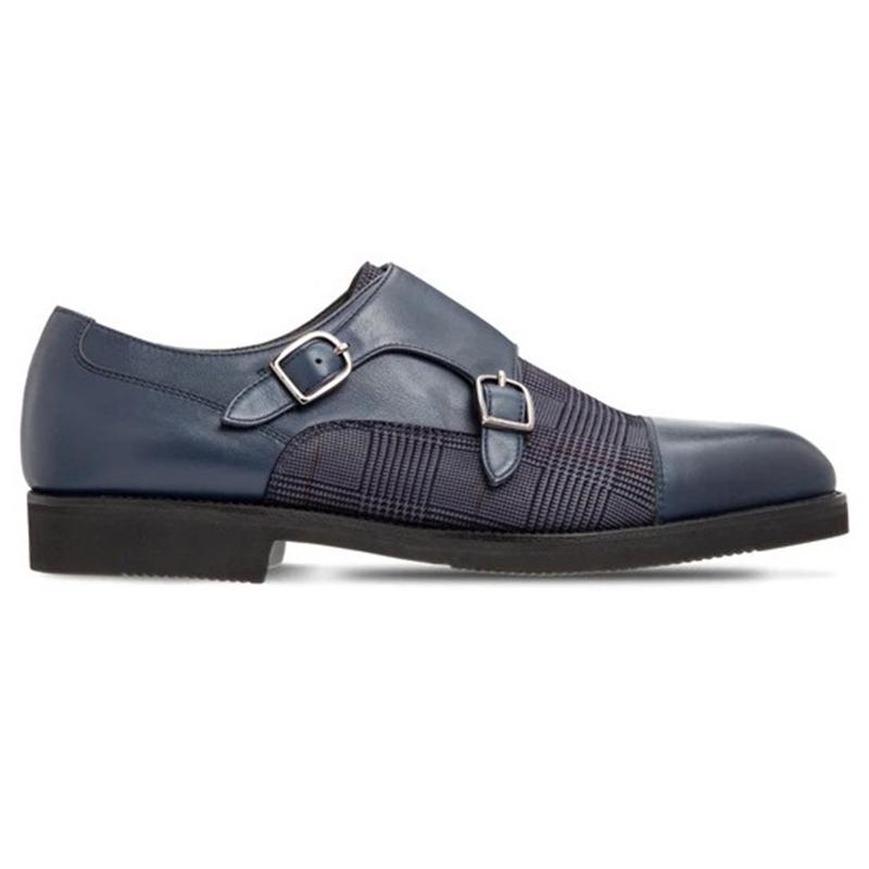 Moreschi 2000001246696 Calfskin Double Buckle Shoes Blue Image