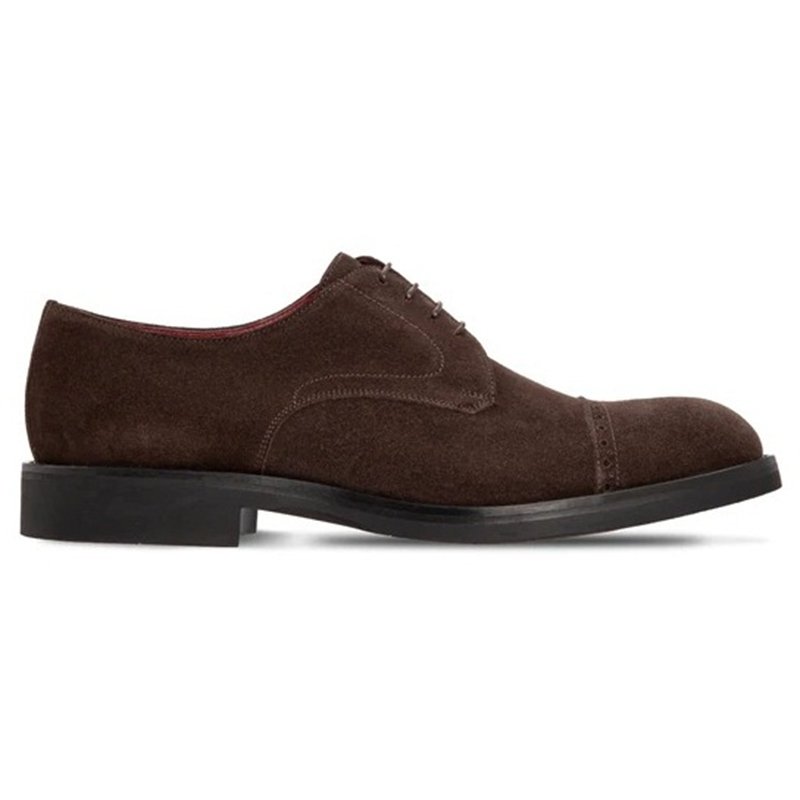 Moreschi 2000001250617 Suede Derby Shoes Dark Brown Image