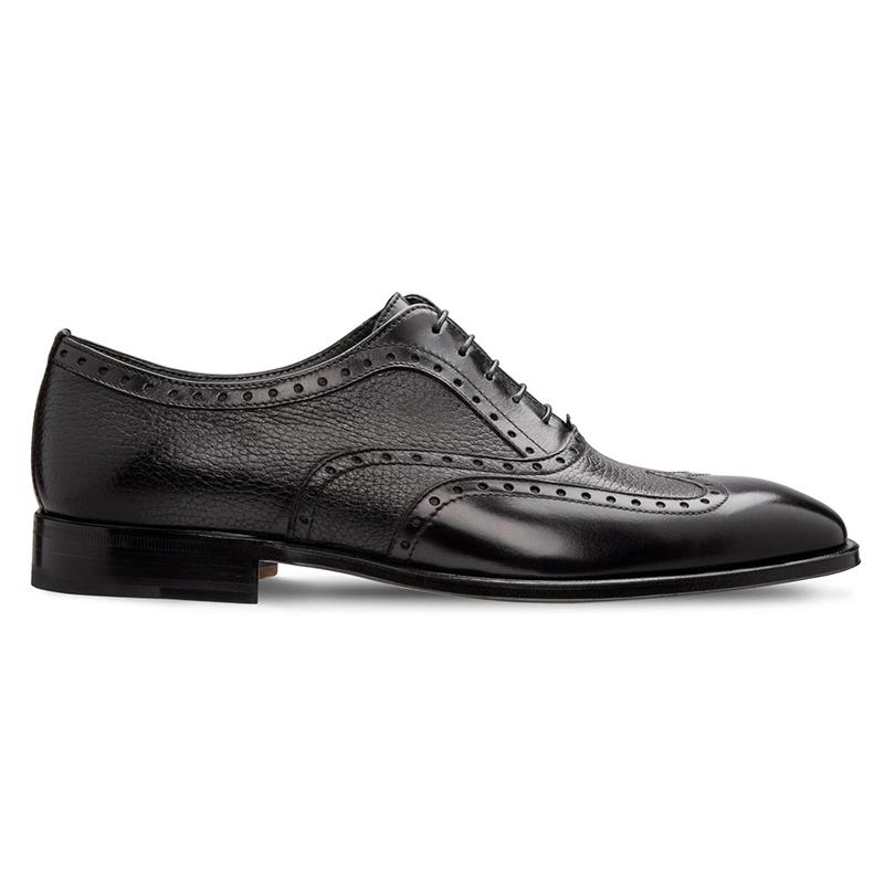 Moreschi 228544C Deerskin & Calfskin Oxford Shoes Black Image