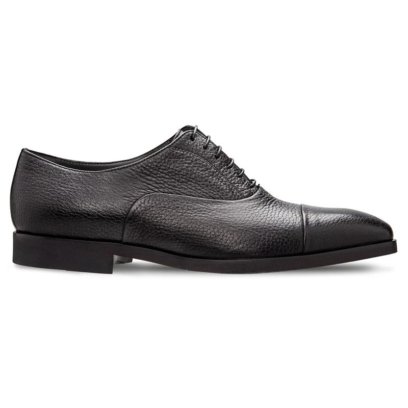 Moreschi 228550F Deerskin Oxford Shoes Black Image