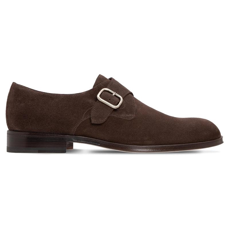 Moreschi 228785 Suede Monkstrap Shoes Dark Brown Image