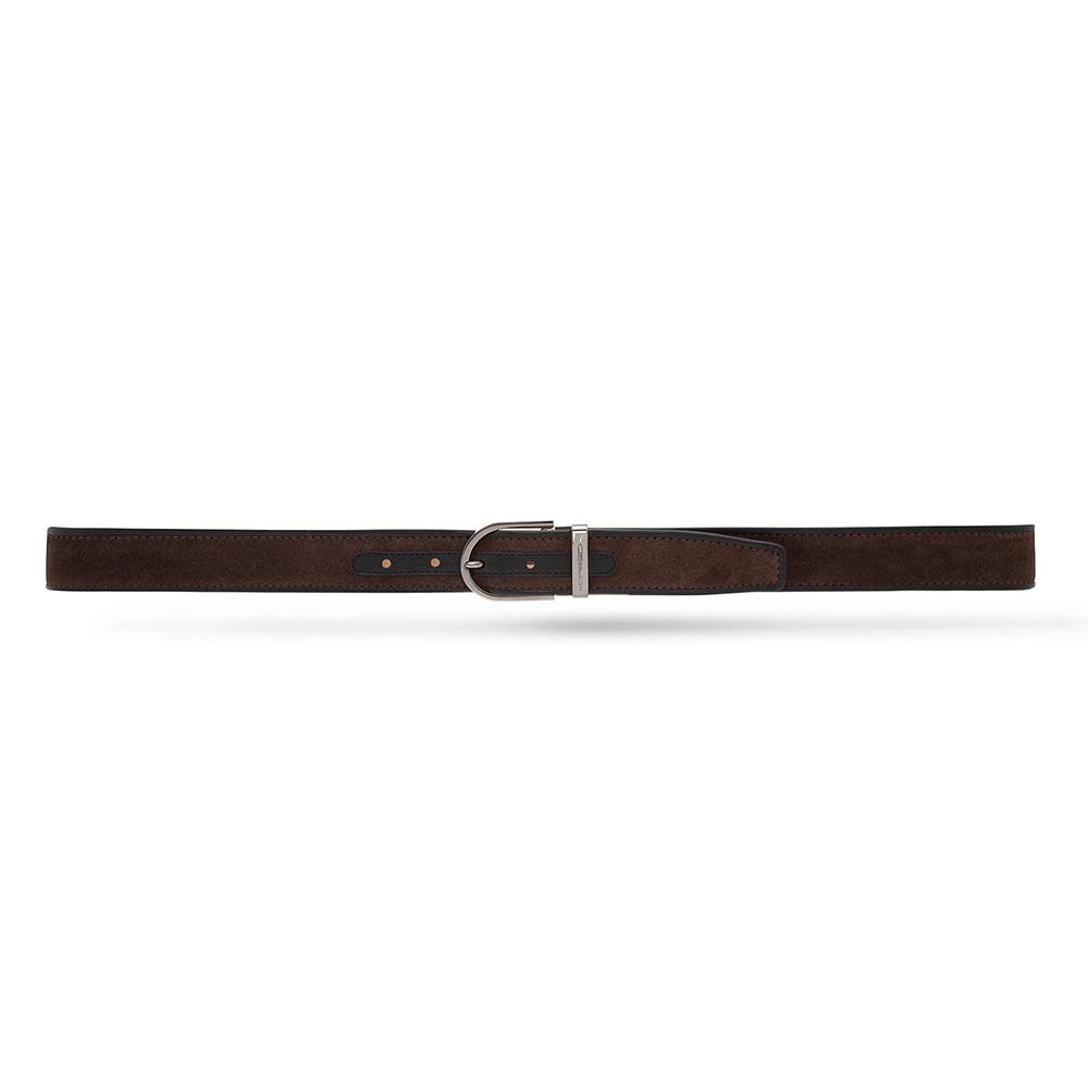Moreschi 307028 Suede Belt Dark Brown / Black Image