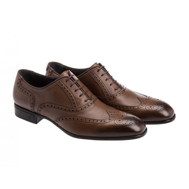 Moreschi 41803 Deerskin Wingtip Shoes Brown (SPECIAL ORDER) Image