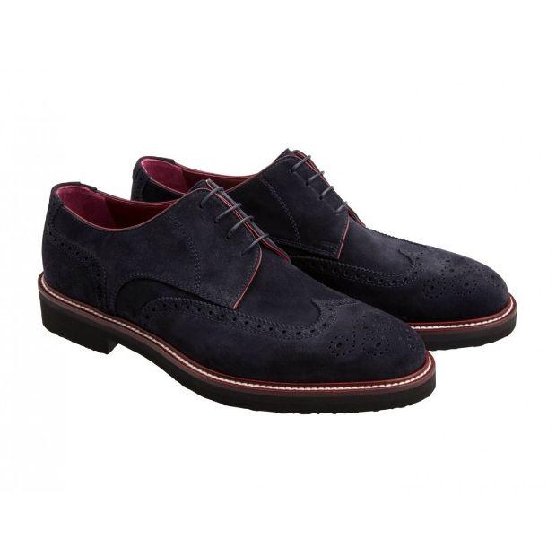 Moreschi 41817 Suede Derby Shoes Blue (SPECIAL ORDER) Image