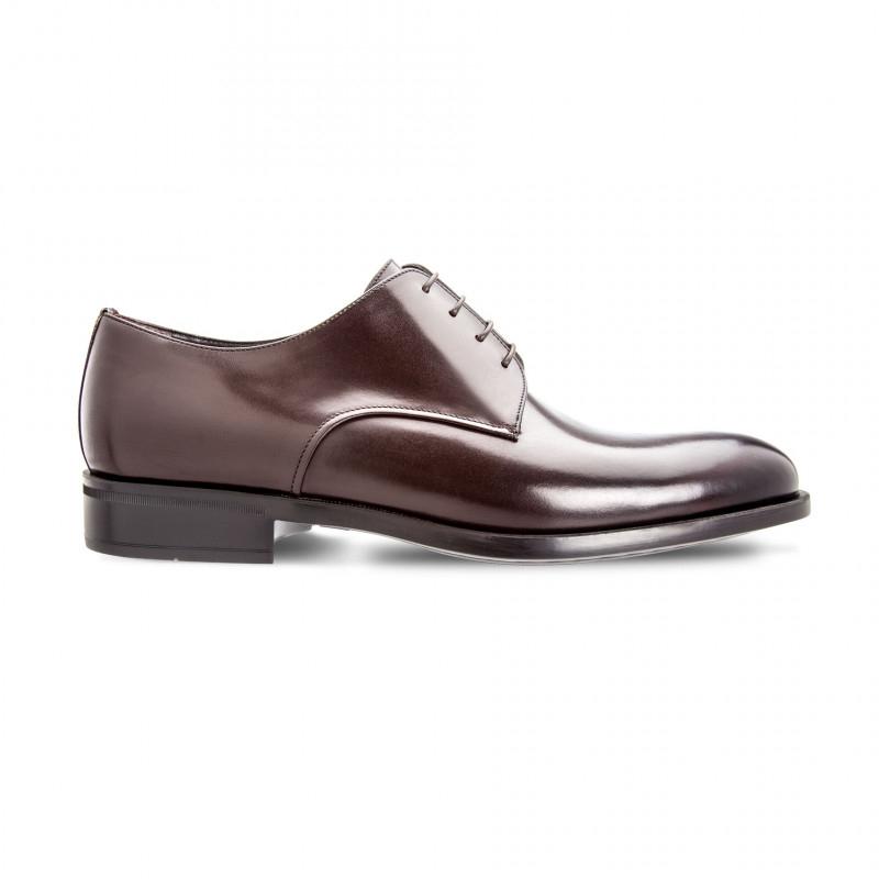 Moreschi 42362 Calfskin Derby Shoes Dark Brown (SPECIAL ORDER) Image