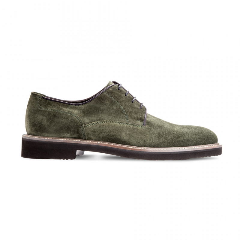 Moreschi 42379VS Suede Leather Derby Shoes Green (SPECIAL ORDER) Image