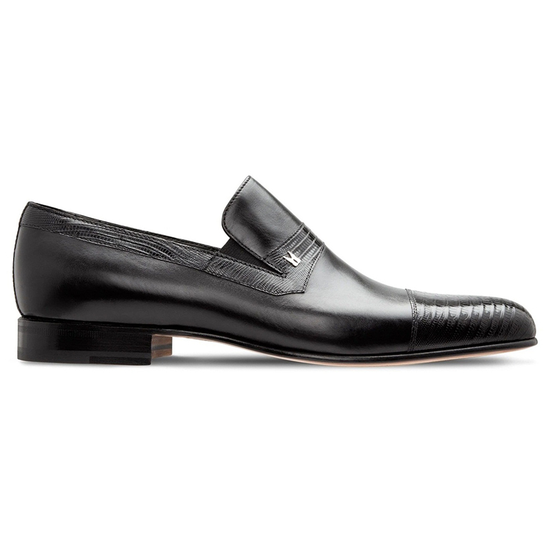 Moreschi 43153 - Lizard & Calfskin Loafers Black Image