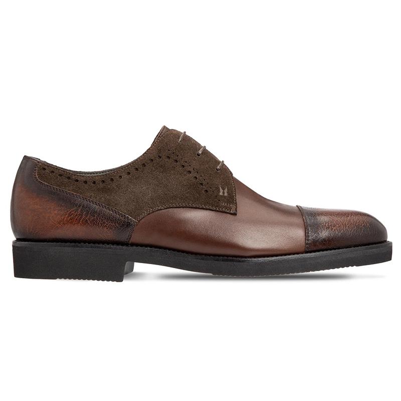 Moreschi 43579 Calfskin Derby Shoes Dark Brown Image