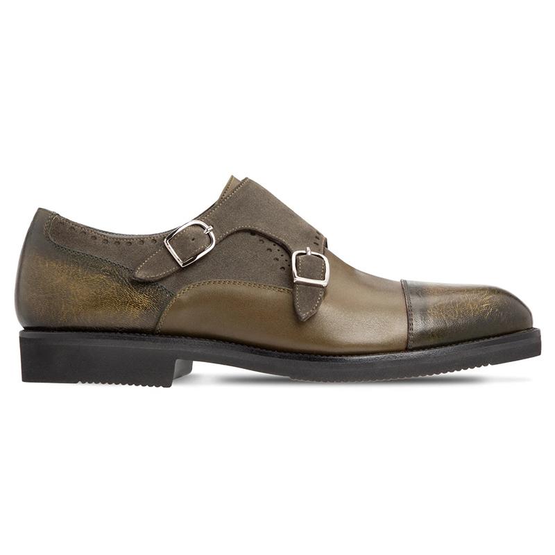 Moreschi 43580 Suede Calfskin Shoes Dark Green Image