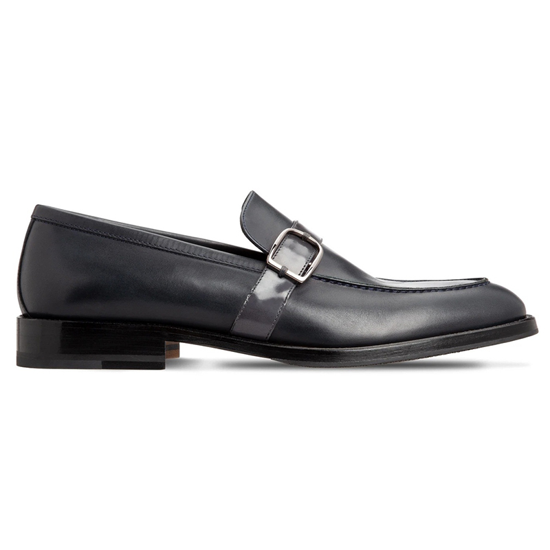 Moreschi 43586 Calfskin Loafer Shoes Dark Blue Image