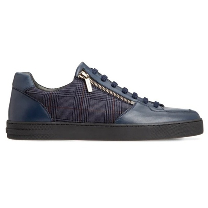 Moreschi 43627 Calfskin Sneakers Dark Blue Image