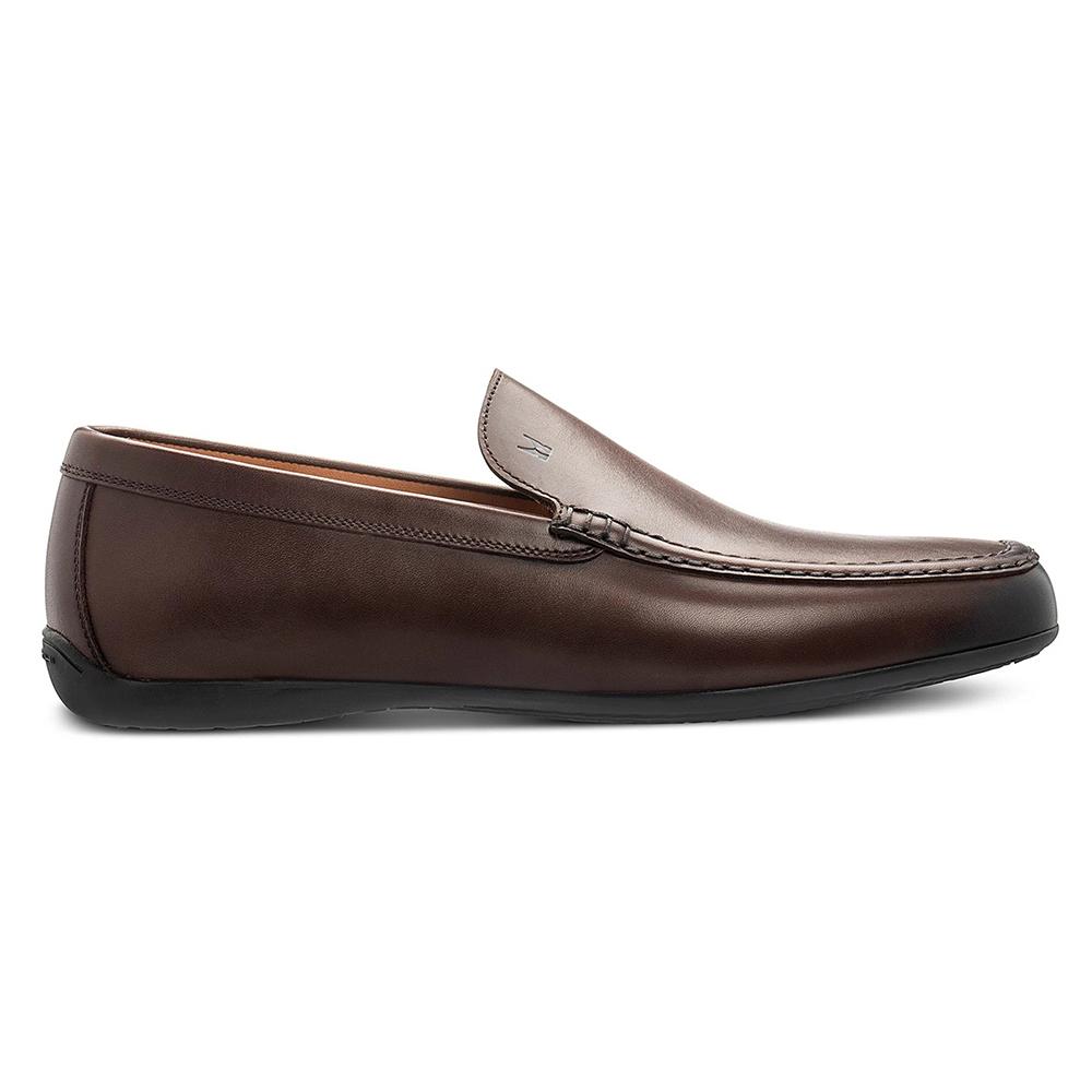 Moreschi 43935 Calfskin Slip On Loafers Dark Brown Image