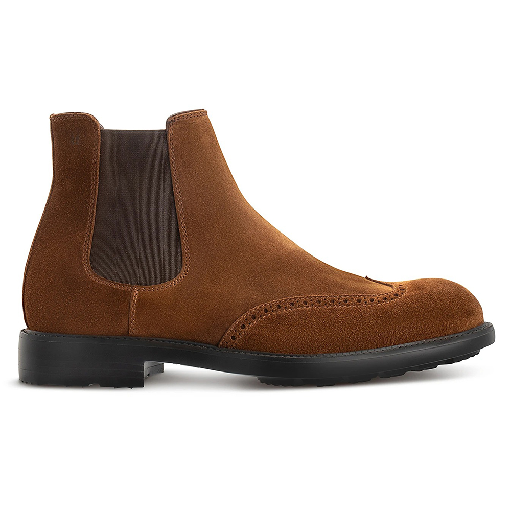 Moreschi 43952 Suede Slip-on Boots Brown Image