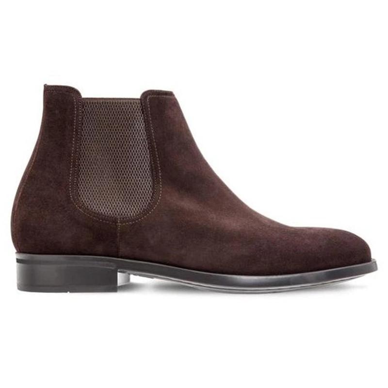 Moreschi Chelsea Calfskin Suede Boots Dark Brown Image