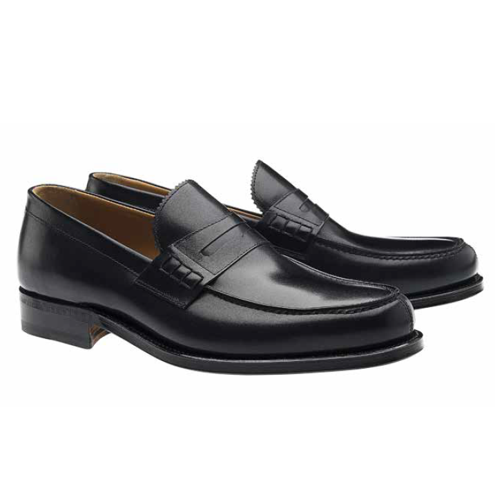 Moreschi Coventry Goodyear Welted Penny Loafers Black Image