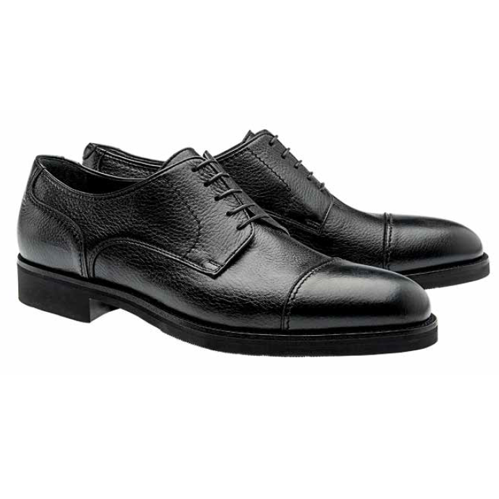 Moreschi Detroit Deerskin Cap Toe Shoes Black Image