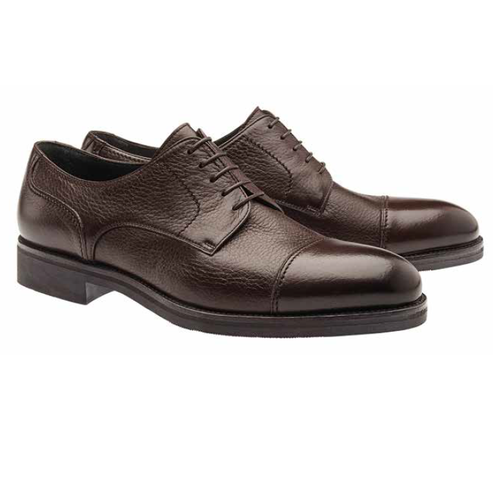 Moreschi Detroit Deerskin Cap Toe Shoes Brown Image