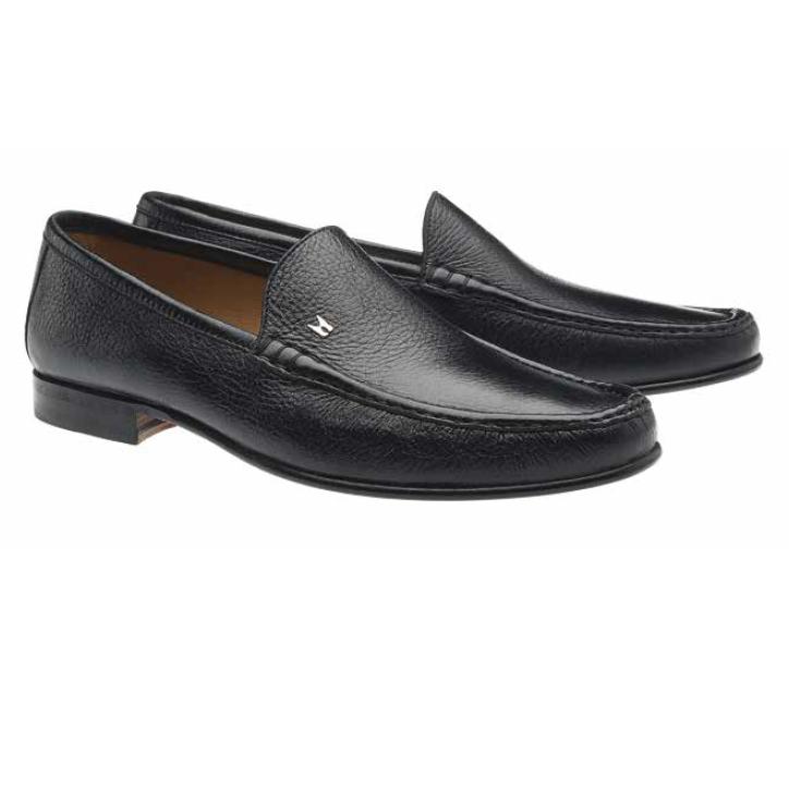 Moreschi Hannover Deerskin Loafers Black (SPECIAL ORDER) Image