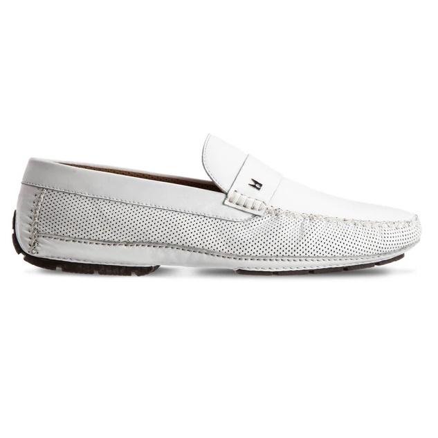Moreschi Havana Lambskin Driving Loafers White Image