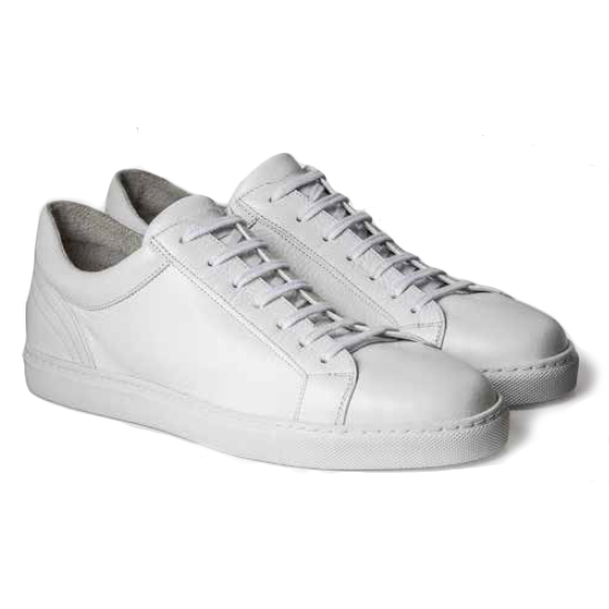 Moreschi Ibiza Deerskin Sneakers White Image