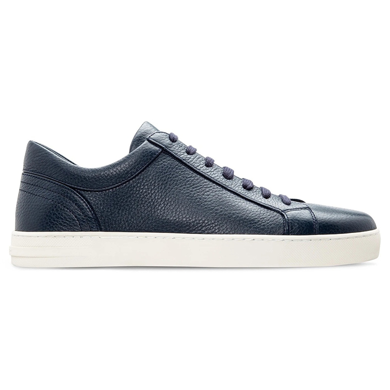Moreschi Ibiza Deerskin Sneakers Blue Image
