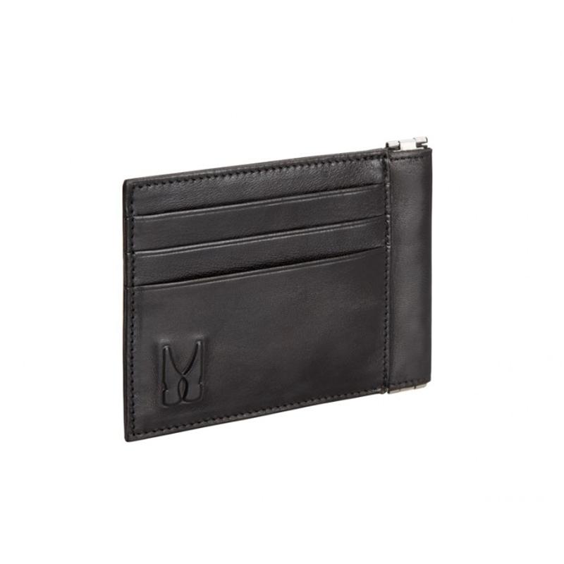 Moreschi Leather Credit Card Holder Black Image