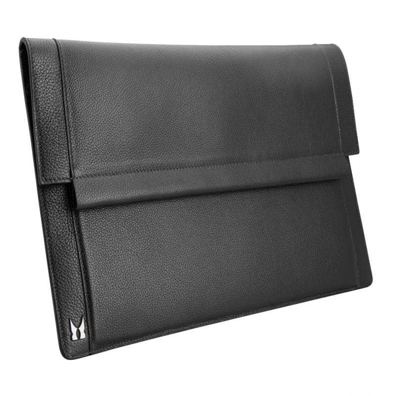 Moreschi Leather Hand Document Holder Black Image