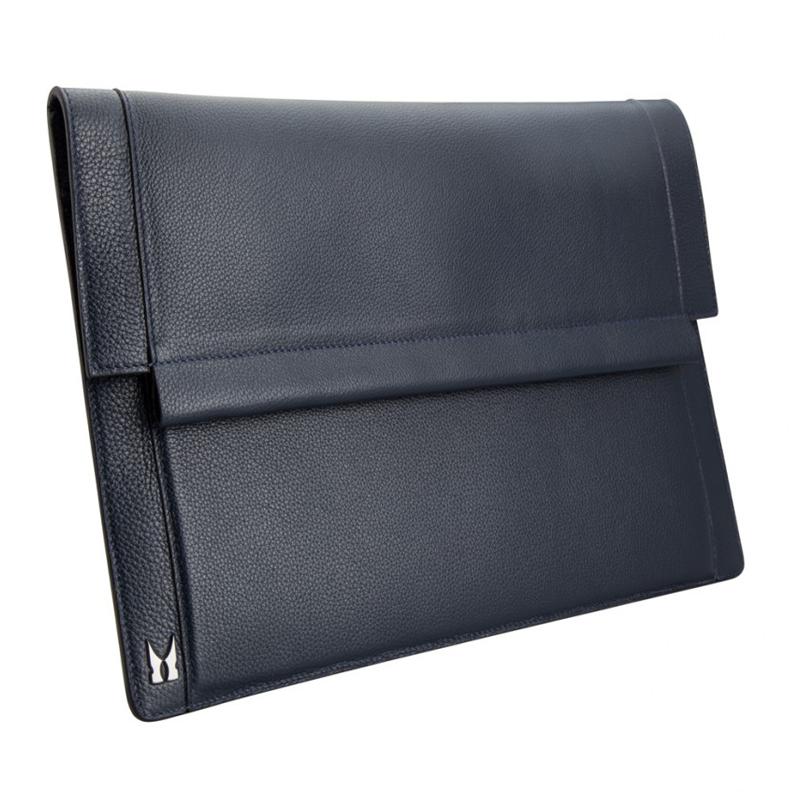 Moreschi Leather Hand Document Holder Dark Blue Image