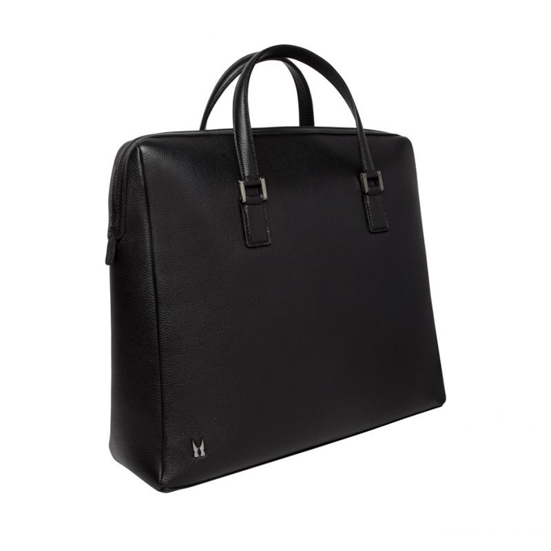 Moreschi Leather Hand Or Shoulder Bag Black Image