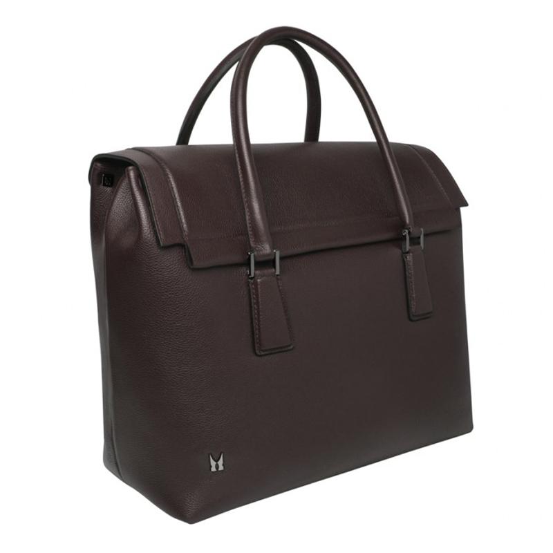 Moreschi Leather Travel Bag Brown Image