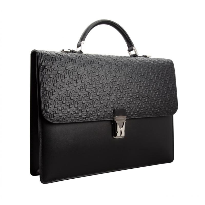 Moreschi Leather Working Bag Black Image