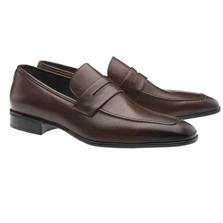Moreschi Liegi Calfskin Apron Toe Loafers Brown (Special Order) Image