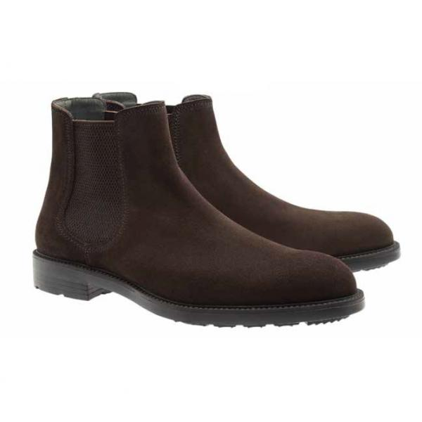 Moreschi Lubecca Suede Slip on Boots Dark Brown Image