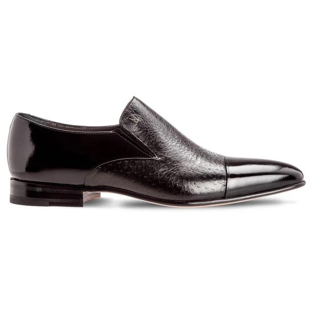 Moreschi Metz Peccary & Calfskin Loafers Black Image