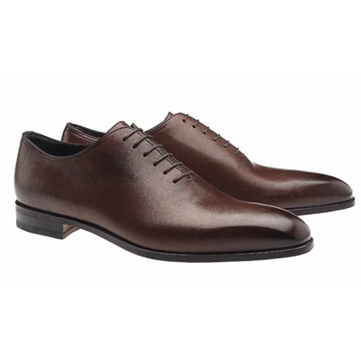Moreschi Montreal Plain Toe Calfskin Oxfords Brown Image