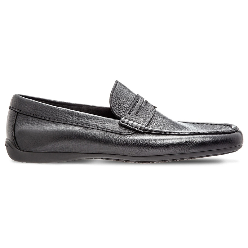 Moreschi Panama Deerskin Driving Loafers Black Image