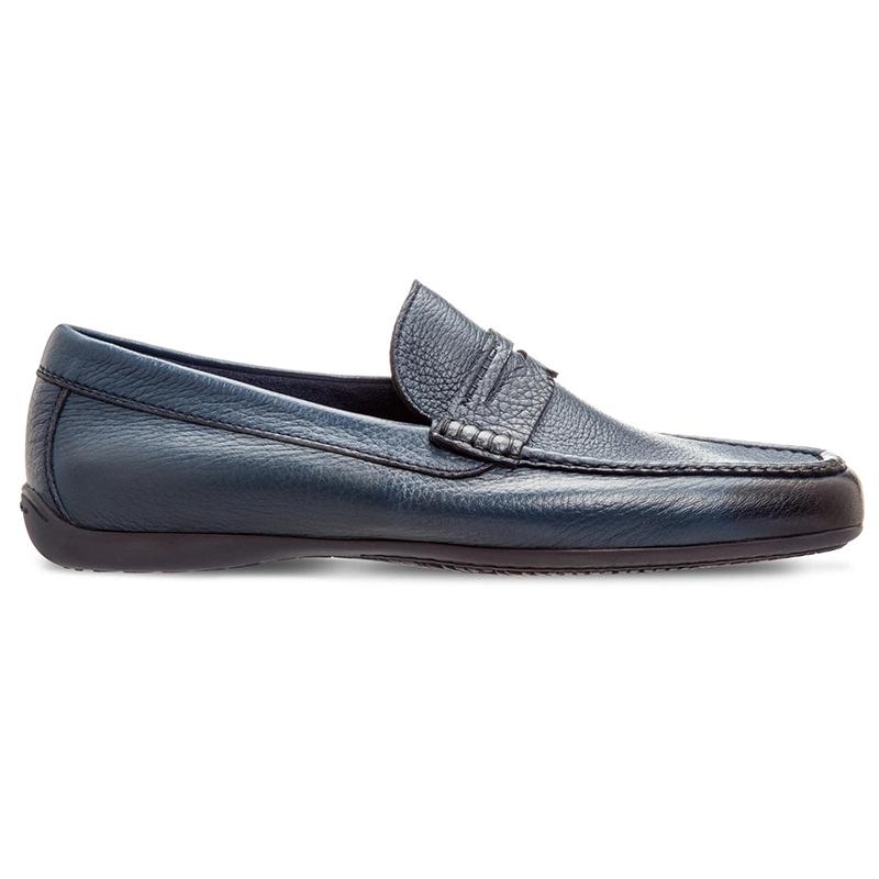 Moreschi Panama Deerskin Driving Loafers Blue Image