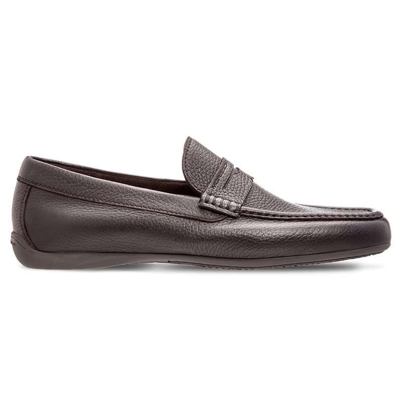 Moreschi Panama Deerskin Driving Loafers  Dark Brown Image