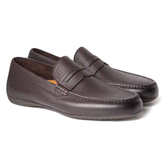 Moreschi Panama Deerskin Driving Loafers  Dark Brown Image