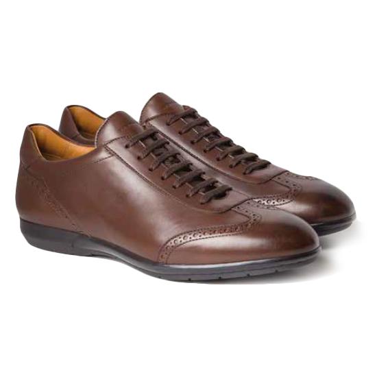 Moreschi Porto Calfskin Sneakers Brown Image