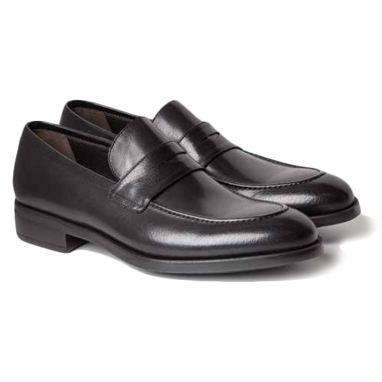 Moreschi Sligo Buffalo Penny Loafers Black Image